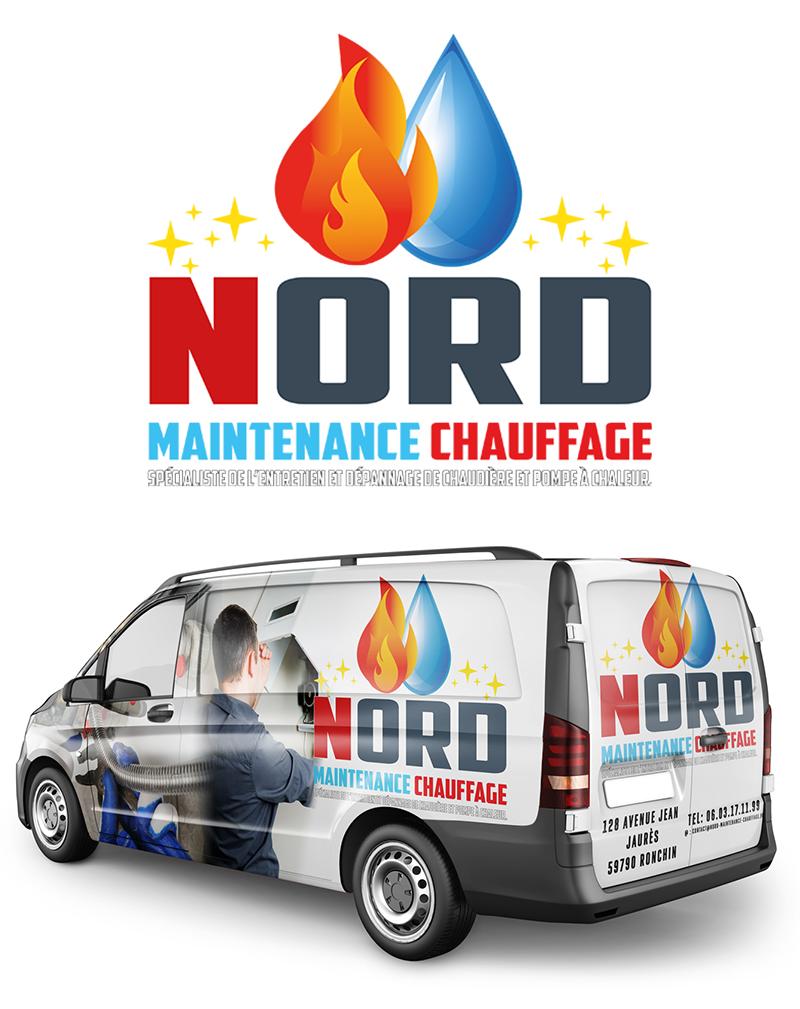 Création charte graphique et différents support de communication pour la société Nord Chauffage Maintenance