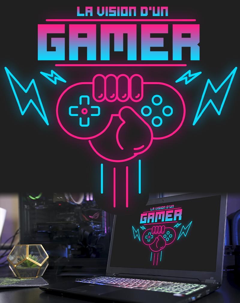 Réalisation d'un logo pour le site internet spécialisé jeux vidéo La vision d'un gamer