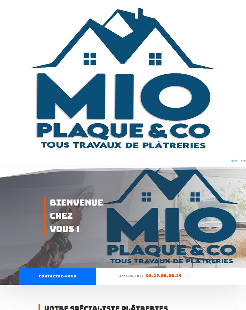Création d'une charte graphique et site internet pour Mio plaque & Co